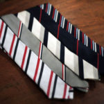 Diagonally striped tie selection