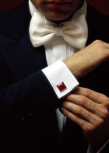 Cuff Link on A Suit