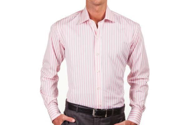 Thomas Pink and White Vertical Stripe Shirt