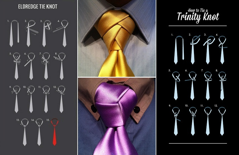 Stand out with an Eldredge or Trinity knot for your tie