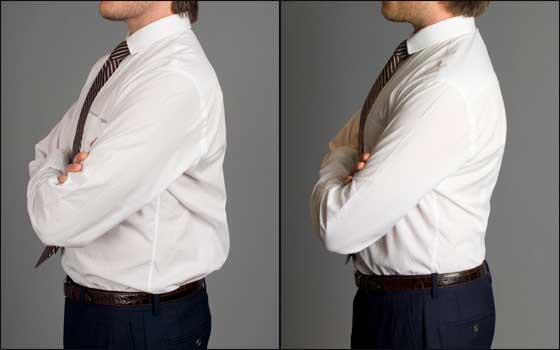 back darts fit contour of your back and eliminate billow Back Darts On A Dress Shirt   Yes or No?
