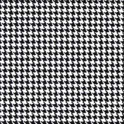 Black and White Houndstooth Check Pattern for Dress Shirts