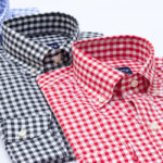 blue black red gingham check pattern dress shirts by hucklebury 150x150 Dress Shoes Style For Men