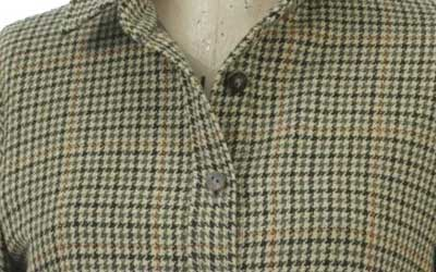 Multi-colored Houndstooth Dress Shirt