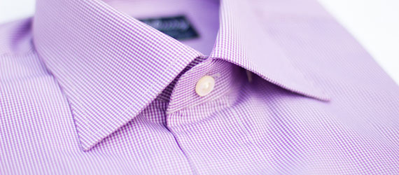 Purple pinchecks Dress Shirt by Hucklebury