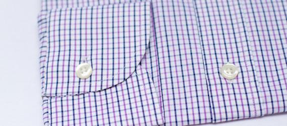 Tatersall check pattern dress shirt by Hucklebury