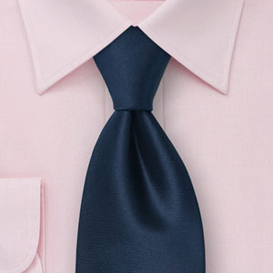 Solid Tie on Solid Dress Shirt