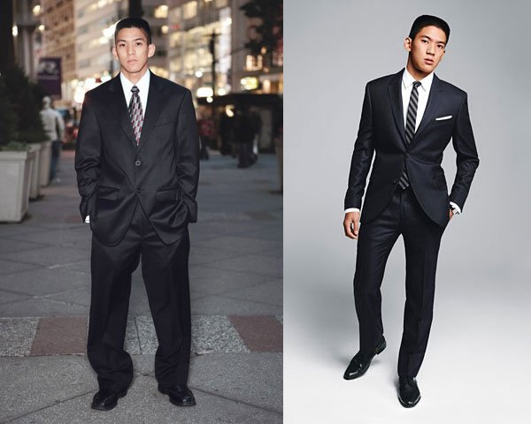 great fitting clothes vs loose fitting clothes