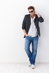 Layering Look - Jeans with Blazer and Dress Shirt