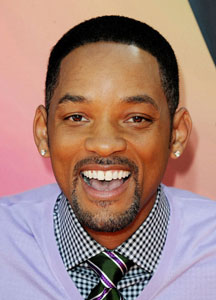 Will Smith with Oval Shape Face with Wide Spread Collar and Full Windsor Tie