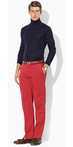 Firetruck Red Pants - Bright Colored Pants - Art of Style