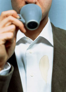 Taking Care of Dress Shirt - Coffee Stain on Shirt - Art of Style