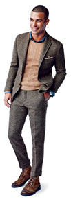 Tweed Suit with Distressed Boots - Art of Style