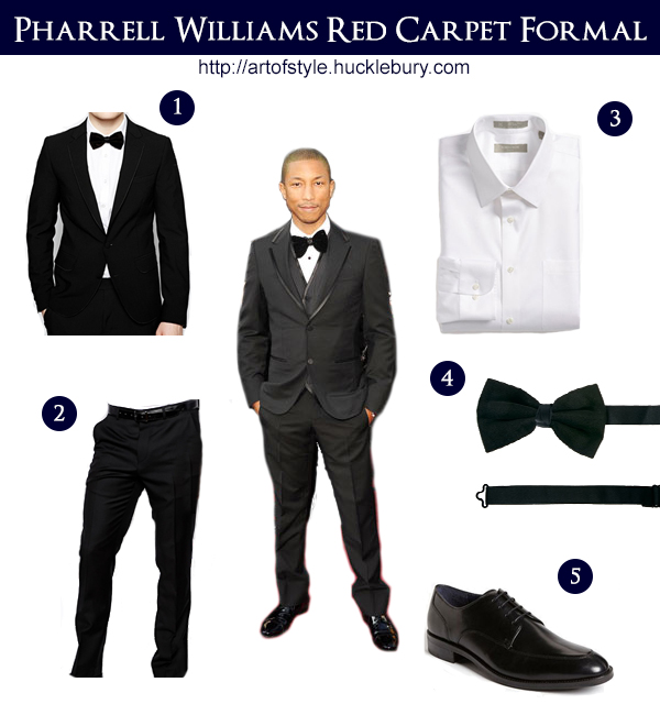 Pharrell Williams Red Carpet Formal Style Lookbook - Art of Style