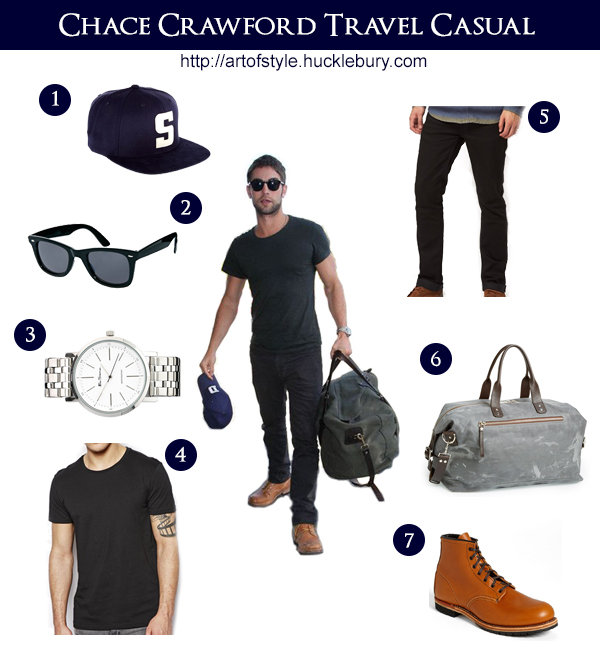 Chace Crawford Travel Casual Style Lookbook - Art of Style