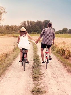 Couple Outdoors in Nature - Biking - Budget First Date - Art of Style