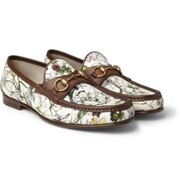 Floral Pattern Horsebit Loafer By Gucci