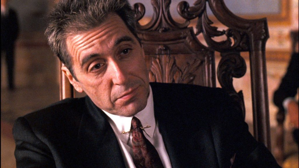 Al Pacino Stands Out Wearing A Collar Pin in Godfather III