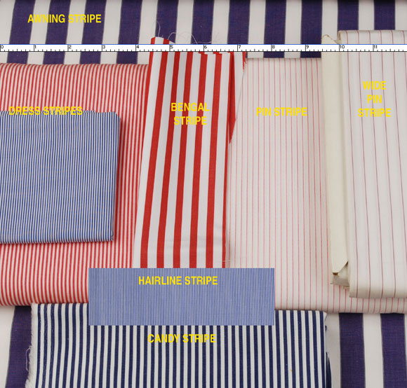 Comparing Different Stripes Patterns for Dress Shirts