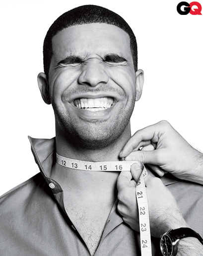 Drake Getting His Neck Size Checked by GQ