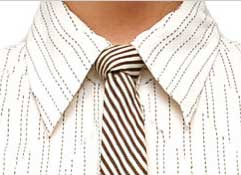 Skinny Tie with Half Windsor Knot