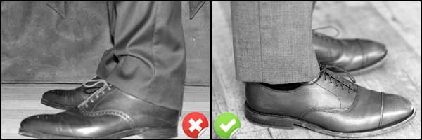Style Mistake: Bunching Pant Legs Over Shoes