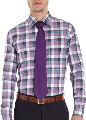 Plaid dress shirt for work