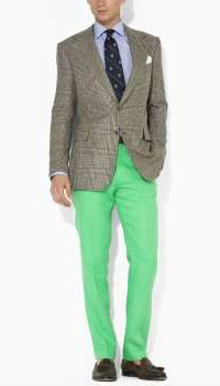 Dressed up with Lime Green Pants - Art of Style