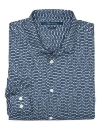 Perry-Ellis-Slim-Fit-Droplet-Print-Shirt-Cristiano-Ronaldo-Style