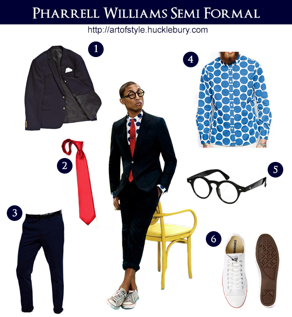 Pharrell Williams Semi Formal Style Lookbook - Art of Style