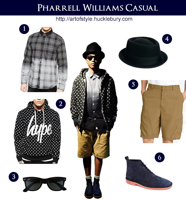 Pharrell Williams Casual Style Lookbook - Art of Style