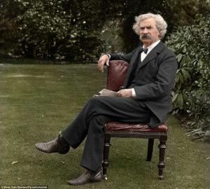 "Mark Twain, looking good in his suit, said that ""Clothes make the man."""